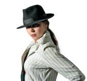 2个帽子妇女 免版税库存照片