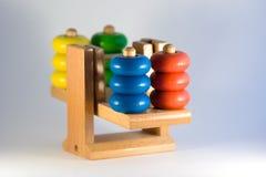2个平衡五颜六色的缩放比例重量 库存照片