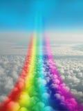 2个幻想彩虹 免版税库存图片