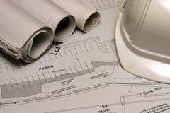 2个建筑计划 免版税库存照片