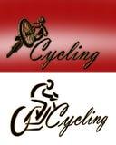 2个循环的徽标样式 免版税库存图片