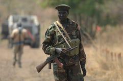 2个战士苏丹人 图库摄影