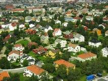 2个房子城镇 免版税库存图片