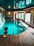 2个房子池游泳 库存图片