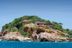 2个房子海岛 库存图片