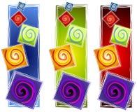 2个抽象艺术性的螺旋 向量例证