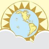 2个指南针地球上升了 图库摄影