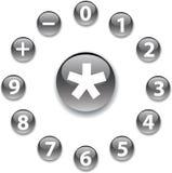 2个按钮数学集 皇族释放例证