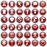 2个按钮红色来回万维网 免版税库存照片