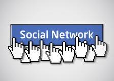 2个按钮网络社交 免版税库存照片