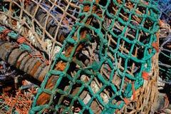 2个捕鱼网缠结了 免版税库存图片