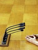 2个政客演讲 免版税库存照片