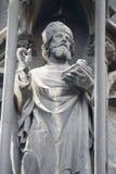 2个教会圣徒st雕象斯蒂芬・维也纳 库存照片