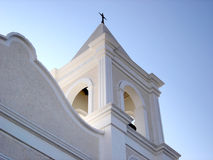 2个教会尖顶 免版税库存照片