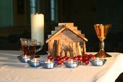 2个教堂圣诞节早晨 免版税库存照片