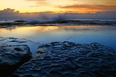 2个早晨海边 免版税库存照片