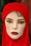 2个时装模特红色系列 库存照片