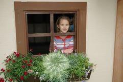 2个村庄视窗 库存照片