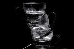 2个杯子小咖啡杯浓咖啡 库存图片