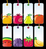 2个果子集合标签 免版税库存照片