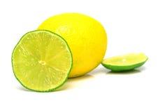 2个柠檬石灰 免版税库存照片