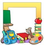 2个框架学校主题 免版税库存照片
