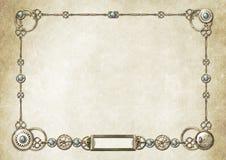 2个框架steampunk 向量例证