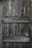 2个楼层架子木头 免版税库存图片