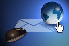 2个概念电子邮件 库存照片