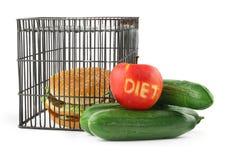 2个概念饮食 免版税库存图片
