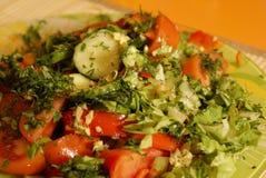 2个沙拉蕃茄 库存图片
