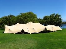 2个活动帐篷 免版税库存照片