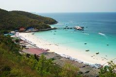 2个海岛ko lan pattaya 库存图片