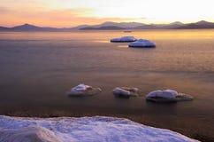 2个海湾横向vladimir冬天 库存图片