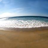 2个海滩场面 免版税库存照片