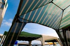 2个海滩帐篷 免版税图库摄影