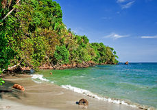 2个海滩视图 免版税库存图片