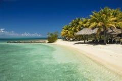 2个海滩视图 免版税库存照片