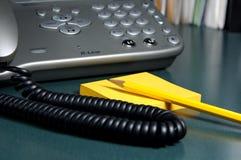 2个消息电话 免版税库存照片