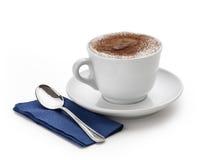 2个热奶咖啡杯子 库存照片