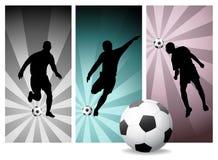 2个球员足球向量 免版税库存图片