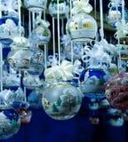 2个球圣诞节 库存图片