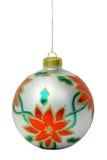 2个球圣诞节 免版税库存照片