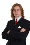 2个生意人诉讼 免版税库存照片