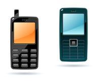 2个电池图标电话 库存图片