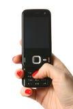 2个电池现有量电话 免版税库存图片