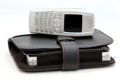 2个电池组织者电话 免版税库存照片