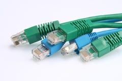 2个电缆以太网 免版税库存照片