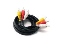2个电缆再生产的声音 免版税图库摄影