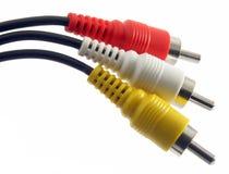 2个电缆rca 免版税库存照片